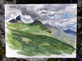 Petit Bonvin under a cloudy sky, Crans-Montana